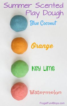 Summer Scented Play Dough Recipes – Frugal Fun For Boys and Girls Slime Recipe, Dough Recipe, Summer Crafts, Diy Crafts For Kids, Craft Ideas, Toddler Crafts, Summer Fun, Summer Activities For Kids, Stem Activities
