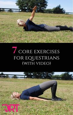 7 core exercises for equestrians. With video