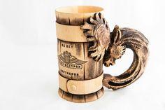 Groomsmen Gift, Personalized Wooden Beer Mug, Wedding Gift, Groomsman Gift, Best Man Gift, Groom, Tankard, Wedding Party Favors, Beer Stein