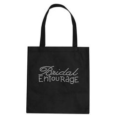 Tote Bag with Bride, Maid of Honor, Matron of Honor, Bridesmaid, Mother of in Rhinestones. Great Bridesmaid Gift Ideas  $14