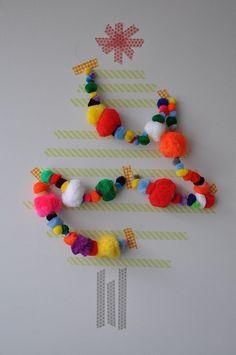 zelfmaakidee voor kerst met washi tape