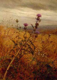 Fidelia Bridges (1834-1923), Thistle in a Field, 1875, oil on canvas,