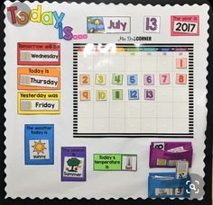 Morning Routine for the Self-Contained Classroom Morning calendar routine for morning work in special ed – Kindergarten Lesson Plans Preschool Calendar, Classroom Calendar, Classroom Board, Kindergarten Calendar Board, Kids Calendar, Toddler Calendar, Head Start Classroom, Teaching Calendar, Preschool Schedule