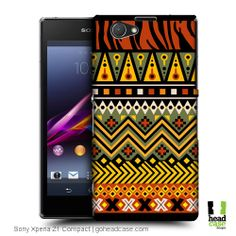 Head Case Designs Jungle African Pattern Hard Back Case for Sony Xperia Z1 Compact D5503