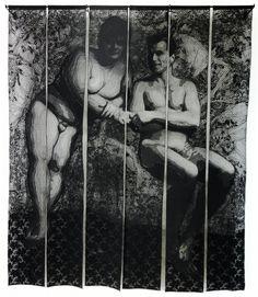 Fred & Denis - Textile Portraits Blog, Textiles, Portraits, Painting, Art, Art Background, Painting Art, Kunst, Paintings