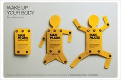 "This interactive business card quickly conveys the benefits of pilates and leaves a lasting impression of ""How cool!"" Bonus: This card has a very high chance of being passed around or shown to others, increasing its marketing value."