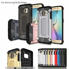 Shockproof Armor Case For Samsung Galaxy S6 S6edge S6 edge Plus Case TPU Silicone Hybrid Hard Plastic Cover Phone Case