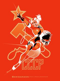 cccp cosmonaut girl - I love Andrew Bawidamann's lines (and curves). Not sure how you missed this Cosmo-naughty:)