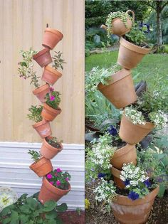 Different way to display clay pots :)