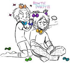 Bowtie party!!! Omg this is so freakin adorable a LOVE 2p FRUK aaaaah!
