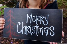 Merry Christmas wood sign porch sign