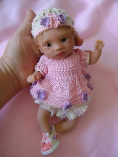Original art Ooak, polymer clay baby Tania , 9 inches, by Bettymoni $150