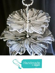 Two Tier Stand, Jewelry Stand, Vanity Tray, or Dessert, Appetizer, Cake Stand, Shabby Chic, Crystal / Cut Glass from Revived Charm https://www.amazon.com/dp/B07288ZPYC/ref=hnd_sw_r_pi_dp_aLHjzbBB1Q6VW #handmadeatamazon