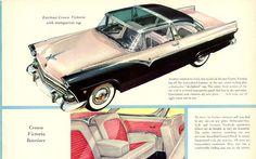 1955 Ford Fairlane Crown Victoria with transparent top Vintage Advertisements, Vintage Ads, Ford Classic Cars, Ford Fairlane, Classic Motors, Car Advertising, Us Cars, Ford Motor Company, Retro Cars