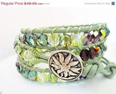 CIJ Sale Sweet Serendipity Beaded Leather Wrap by WrappedInLeather, $39.16