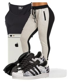 """."" by ray-royals ❤ liked on Polyvore featuring Lost & Found, Yves Saint Laurent and adidas"
