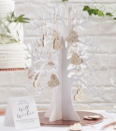 """Gästebuch """"Wunschbaum"""" Guest Book Tree, Think Small, Alternative Wedding, Wedding Guest Book, Place Card Holders, Healthy Choices, Candle Holders, How Are You Feeling, Candles"""