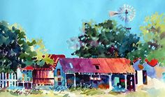 Hill Country Living by Dyan Newton Watercolor ~ 15 x 22