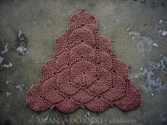 Ravelry: Project Gallery for Tunisian Shell Blanket pattern by Elena Fedotova