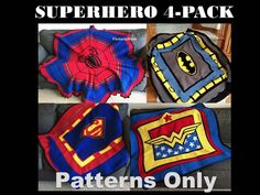 Download your favorite superhero crochet blanket pattern today.  #batman #superman #hulk #wonderwoman #crochet