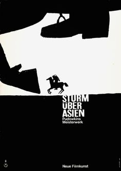 STORM OVER ASIA, by Hans Hillmann, 1961 German artist Hans Hillmann is celebrated for his inventive graphic movie posters.