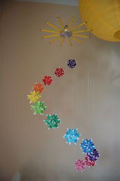 Origami mobile - I'd love to make this for the kids!