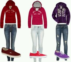 Hoodies and vans - outfits