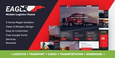 Buy Eagle - Logistics, Cargo & Transportation WordPress Theme by modeltheme on ThemeForest. Want to create and incredible Logistics/Warehouse/Transportation theme? Sick of testing and evaluating themes? Amazing Websites, Transportation Theme, Wordpress Template, Corporate Business, Event Calendar, Premium Wordpress Themes, Make More Money, Website Template, Eagle