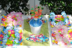 Luau Anniversary (Wedding) Party Ideas | Photo 19 of 31 | Catch My Party
