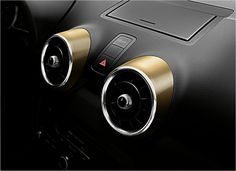 Gold air vents with the Lifestyle Kit Gold...