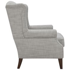 Classic Wing Armchair in Cement Freedom Furniture, Furniture Decor, Winged Armchair, Herringbone Fabric, Lounge Suites, Fabric Armchairs, Bedroom Chair, Occasional Chairs, Home Office Design