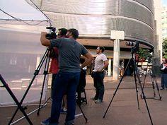 Projeto Moradores convida o pedestre a contar um pouco da sua história (Foto: Globo)