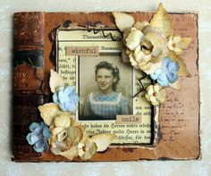 Jennie here with you this month hosting my first challenge for Our Creative Corner. I do hope you enjoy the challenge theme I have. Scrapbook Pages, Scrapbooking, Old Books, Altered Books, Mixed Media Art, Collage Art, Repurposing, Canvas, Creative