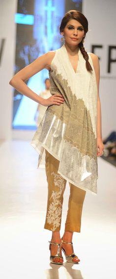 Nida Azwer - Fashion Pakistan Week 6 - Spring 2014 - Arabesque collection