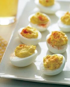 Creamy Deviled Eggs with Shallots