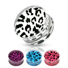 Adornmentz Body Jewelry - Cheetah Print Acrylic Saddle Ear Plugs-Pair, $16.50 (http://www.adornmentz.com/cheetah-print-acrylic-saddle-ear-plugs-pair/)