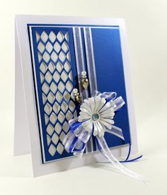 Happy Friday, Its the final day of the blue run, sorry I do get carried away with this colour especially the Yale Blue lustre card! T...