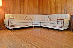 Mid Century 1950's Atomic Era 3 Piece Sectional Sofa - Classic!, $1,285.00