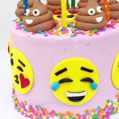 "Gefällt 3,961 Mal, 39 Kommentare - @makingofcakes auf Instagram: ""Emoji Cake Credit @sweetlayers_ #cake #cakes #cakegram #caketutorial #cakevideo…"""