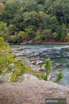 Incredible views from the overlook at East Palisades on the Chattahoochee River Indian Trail hike