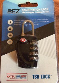 BEZ - TSA Zahlenschloss Gepäckschlösser, TSA Reiseschlösser - 4-stellige Zahlenkombination