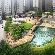 Instagram media by malbarqi2020 - #fountain #landscape_architecture…