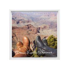 Dream Explore Discover Canvas Print, White, Single piece, 12 x 12 inches, White