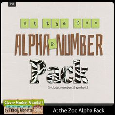 At the Zoo Alpha Pack by Clever Monkey Graphics - Digital scrapbooking kits available through Oscraps, GingerScraps, or MyMemories