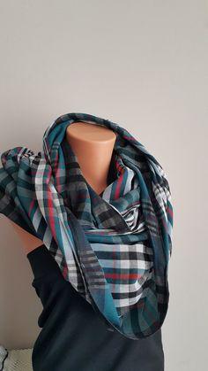 Men's Women's scarves  Tartan  Infinity Scarf  by SpecialFabrics