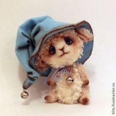 Ягненок Тешка - голубой,барашек,ягненок,баран,овечка,овца,тедди,символ 2015 года