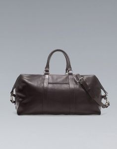 LEATHER WEEKEND BAG -  ZARA Norway