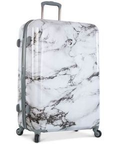 """Heys Bianco Stone-Print 30"""" Hardside Spinner Suitcase - Marble Print Suitcase Packing, Carry On Suitcase, Carry On Luggage, Luggage Sets, Travel Luggage, Travel Bags, Calpak Luggage, Hard Suitcase, Cabin Suitcase"""