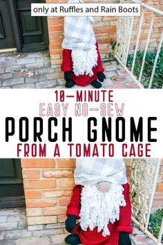 Christmas Porch, Christmas Gnome, Outdoor Christmas Decorations, Christmas Projects, Fall Decorations, Country Christmas, White Christmas, Christmas Ideas, Merry Christmas