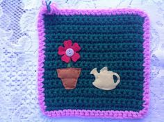 Time to water - Christine C. www.knit-a-square.com